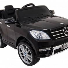 Masinuta electrica Mercedes Benz ML-350 negru, anvelope din cauciuc si portiere - Masinuta electrica copii
