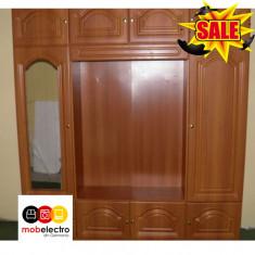 Mobila living dormitor sufragerie dulap sertar lemn rafturi - Set mobila living