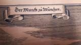 """Tablou din cupru """" Markt zu Munchen"""" germania vintage"""