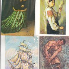 Bnk cp - Romania - Lot 4 carti postale pictura - necirculate - Carte postala tematica, Necirculata, Printata
