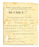 Z117 DOCUMENT VECHI-BULETIN DE VACCINARE 1928-PETRU SOBOLEVSCHI -BRAILA