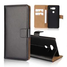 Husa Flip Cu Stand LG V30 Neagra - Husa Telefon, Piele Ecologica, Cu clapeta
