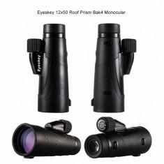 Monoclu Eyeskey 12X50 Prisma Bak4 + husa inclusa. Watherproof, Reglaj Dublu. - Binoclu vanatoare