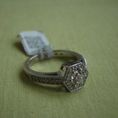 Superb Inel Aur Alb 14k cu Diamante - 0, 75 carate (Certificat) - Inel diamant, 46 - 56