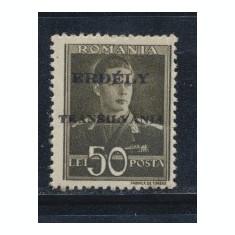 ROMANIA Ardealul de Nord 1944 timbru emisiunea locala Tg Mures eseu 50 Lei MNH - Timbre Romania, Nestampilat