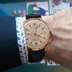 Vand ceas cronograf elvetian vintage Ultimor cu mecanism Landeron - Ceas barbatesc Longines, Mecanic-Manual