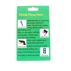 Suport Telefon iPhone Samsung Nokia HTC Stand Cablu Grip Alb - Suport auto GPS