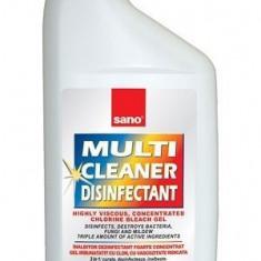 SANO MULTI CLEANER DEZINFECTANT, 750ml, gel cu clor si parfum lamaie