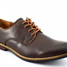 Pantofi barbatesti maro inchis - Castle, Marime: 41
