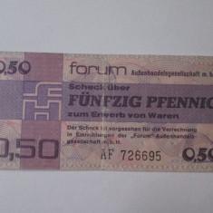 Rara! Germania Democrata 50 Pfennig 1979 schimb valutar - bancnota europa