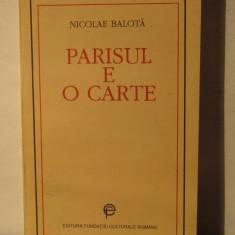 PARISUL E O CARTE -NICOLAE BALOTA