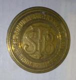 STB SOCIETATEA COMUNALA A TRAMVAIELOR din Bucuresti  medalie veche rara Romania