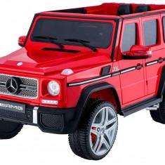 Masinuta electrica Mercedes Benz AMG G65 rosu, anvelope din cauciuc si portiere - Masinuta electrica copii