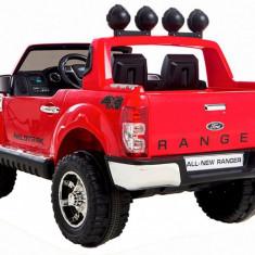 Masinuta electrica Ford Ranger rosu, anvelope din cauciuc si portiere - Masinuta electrica copii