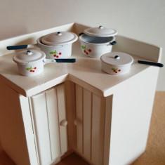 Cratiti si capace - set 8 piese - miniaturi papusi
