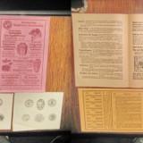 5 Reclame vechi de carti 3hartie si 2 carton anii 1920 stare foarte buna.