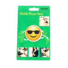 Suport Telefon iPhone Samsung Nokia HTC Stand Finger Grip Fata Zambitoare Cu Ochelari Universal - Suport auto GPS