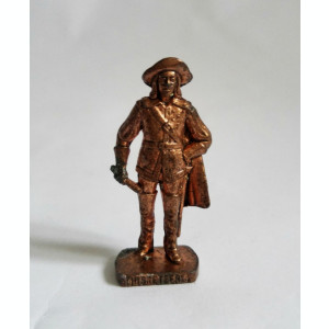 Figurina Kinder metal, Muschetar Musketeer, 4 cm, cupru