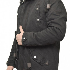 Geaca de Iarna Barbati model 2018 - Geaca barbati, Marime: S, M, L, XL, XXL, Culoare: Negru, Poliester
