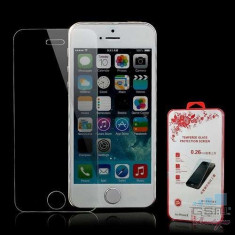 Geam Protectie Display iPhone 5 Tempered In Blister - Folie de protectie Apple
