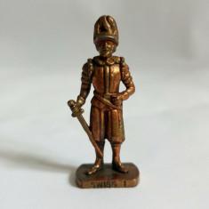 Figurina Kinder metal, soldat gardian Swiss 1 K 96 n 74, garda elvetiana, 4 cm