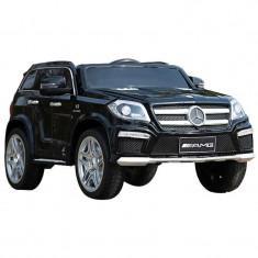 Masinuta electrica Mercedes GL negru cu anvelope din cauciuc, portiere - Masinuta electrica copii