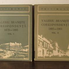 Valeriu Braniste Corespondenta vol.I (1879-1895), vol.II (1895-1901) - Carte Istorie