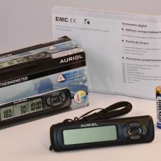 Termometru auto digital cu senzor de exterior si ceas - Nou