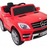 Masinuta electrica Mercedes Benz ML-350 rosu, anvelope din cauciuc si portiere - Masinuta electrica copii