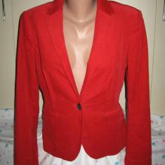 Sacou Zara Basic rosu Mar 40 - Sacou dama, Bumbac