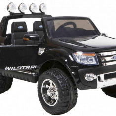 Masinuta electrica Ford Ranger negru, anvelope din cauciuc si portiere - Masinuta electrica copii
