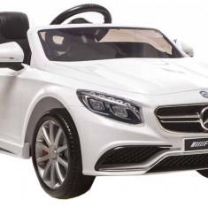 Masinuta electrica Mercedes SL65 AMG alb cu portiere - Masinuta electrica copii