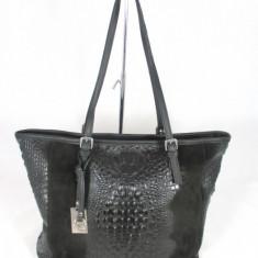 Geanta dama neagra mare piele naturala+CADOU, Culoare: Din imagine