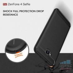 Husa Asus Zenfone 4 Selfie ZD553KL Carbon Series Neagra - Husa Telefon