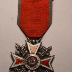 Ordinul Coroana Romaniei Primul Model De Razboi