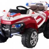 Jeep electric Adventure rosu cu portiere - Masinuta electrica copii