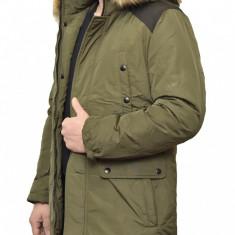 Geaca de Iarna Barbati model 2018 - Geaca barbati, Marime: S, M, L, XL, XXL, Culoare: Verde, Poliester