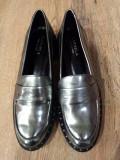 LICHIDARE STOC! Pantofi dama Carvela noi piele ecologica gri metalizat 39