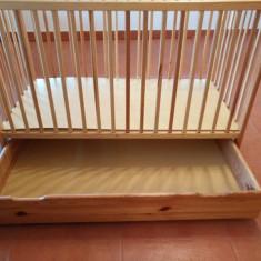 Patut lemn 120x60 - Patut lemn pentru bebelusi Graco, 120x60cm, Altele
