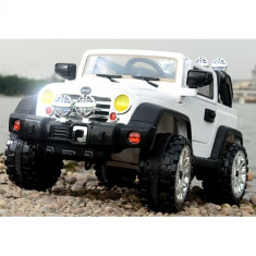 Masinuta Electrica Jeep cu Telecomanda Alb - Masinuta electrica copii