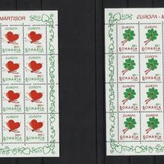 ROMANIA 1998 Martisor, cele 2 coli mici cu 16 timbre nestampilate fiecare - Timbre Romania