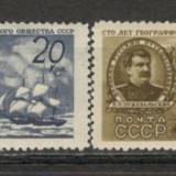U.R.S.S.1947 100 ani Societatea de Geografie CU.35, Nestampilat