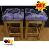 2 NOU scaun pentru bucătărie lemn masiv violet mov