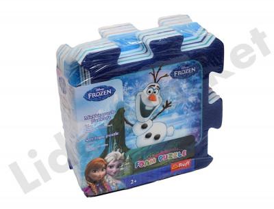 Covor din burete tip puzzle Frozen foto