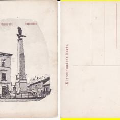 Cernauti (Bucovina) - Monumentul-rara - Carte Postala Bucovina 1904-1918, Necirculata, Printata