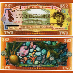 X . RARR : CANADA, SALT SPRING ISLAND, LOCAL MONEY - 2 DOLARI 2001 - UNC - bancnota america