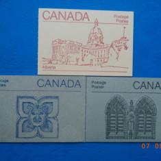 Canada - Trei carnete.