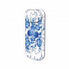 Sticker IQOS personalizare, autocolant removable iSMOQ trifoi albastru - Accesoriu tigara electronica