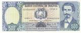 Bancnota Bolivia 500 Pesos Bolivianos 1981 - P166 UNC