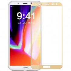 Folie sticla pentru Huawei Mate 10 Lite, skin Gold